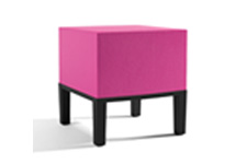 pink square stool