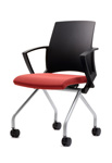 Zeta visitor chair with castors